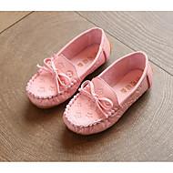 tanie Obuwie dziewczęce-Dla dziewczynek Buty PU Wiosna Jesień Comfort Mokasyny i pantofle na Casual White Black Yellow Różowy