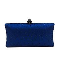 baratos Clutches & Bolsas de Noite-Mulheres Bolsas Poliéster Bolsa de Festa Detalhes em Cristal Azul Escuro / Amarelo / Fúcsia