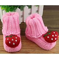Bebê sapatos Tricô Outono Inverno Conforto Chinelos e flip-flops Para Casual Amarelo Vermelho Azul Rosa claro