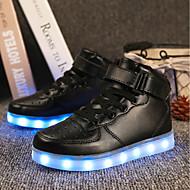 tanie Obuwie chłopięce-Dla chłopców Obuwie Materiał do wyboru / Derma Jesień / Zima Wygoda / Świecące buty Tenisówki Szurowane / Tasiemka / LED na Czerwony / Niebieski / Różowy