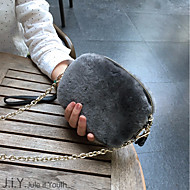女性 バッグ 秋 冬 ポリエステル コットン ショルダーバッグ タッセル のために カジュアル ブラック グレー ダークグリーン ワイン