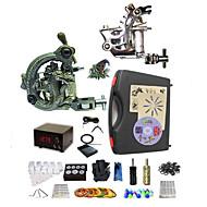 baratos kits profissionais do tatuagem-BaseKey Máquina de tatuagem Kit de tatuagem profissional - 2 pcs máquinas de tatuagem, Profissional Capa Inclusa 1xMáquina Tatuagem de aço para linhas e sombras / 1 x máquina de tatuagem liga para