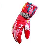 Luvas de Esqui Unisexo Dedo Total Manter Quente Poliéster Estampado Equitação Exercicio Exterior Ciclismo / Moto Esportes de Neve Inverno