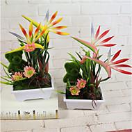 1 Gren Styropor Plastikk Planter Bordblomst Kunstige blomster