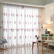 Stanglomme Propp Topp Fane Top Dobbelt Plissert Blyant Plissert Window Treatment Moderne , Blomstret Soverom Polyesterblanding Materiale