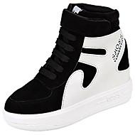 Dames Schoenen PU Winter Comfortabel Sneakers Ronde Teen Magic tape Voor Causaal Zwart Fuchsia Bordeaux