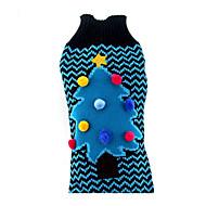 犬 セーター 犬用ウェア クリスマス クリスマス ブルー コスチューム ペット用