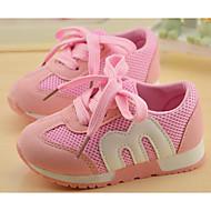baratos Sapatos de Menina-Para Meninas sapatos Malha Respirável Primavera Outono Conforto Tênis para Casual Preto Vermelho Azul Rosa claro