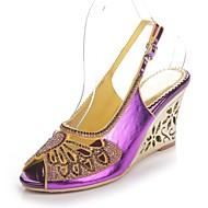 Naiset Kengät Polyurethane Kevät Kesä Muotisaappaat Sandaalit Avokkaat Tekojalokivi Kristalleilla Glitterillä Soljilla Käyttötarkoitus