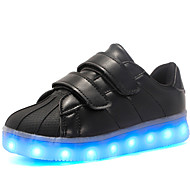 cheap Boys' Shoes-Boys' Shoes Patent Leather / Customized Materials / Leatherette Fall Comfort / Light Up Shoes Sneakers Magic Tape / LED for Black /