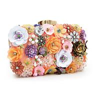 baratos Clutches & Bolsas de Noite-Mulheres Bolsas Poliéster Bolsa de Festa Pérolas Sintéticas / Cristal / Strass / Flor Floral Arco-Íris