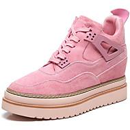 נשים נעליים סוויד סתיו חורף נוחות גלדיאטור נעלי ספורט עבור קזו'אל מסיבה וערב שחור אפור ורוד