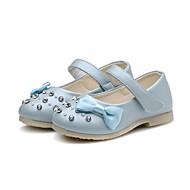 女の子 靴 レザーレット 春 秋 コンフォートシューズ 赤ちゃん用靴 フラワーガールシューズ フラット ラインストーン リボン スパークリンググリッター 面ファスナー 用途 カジュアル ドレスシューズ ホワイト ライトブルー