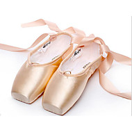 Women's Ballet Satin Flat Full Sole Practice Beginner Professional Indoor Performance Flat Heel Almond Non Customizable