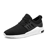Men's Sneakers Spring Summer Fall Comfort Light Soles Tulle Outdoor Casual Flat Heel Walking Shoes Black Grey Blue