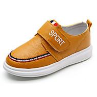 Недорогие -Мальчики обувь Полиуретан Зима Осень Удобная обувь Кеды для Повседневные Белый Черный Желтый