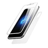 Näytönsuojat varten Apple iPhone X Karkaistu lasi 2 kpls Näytön- ja takakannen suoja 3D pyöristetty kulma Teräväpiirto (HD) 9H kovuus