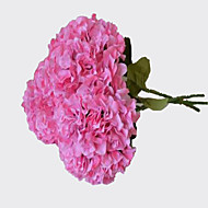 1 Tak Kunststof Hortensia's Bloemen voor op tafel Kunstbloemen