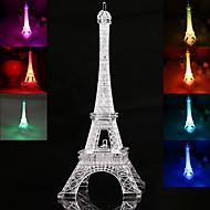 19cm eiffeltårn ledet natt lys skrivebord bryllup soverom dekorere barn gave lys lampe