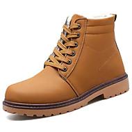 billige -Herre sko PU Vår Høst Komfort Støvler Til Svart Gul Brun