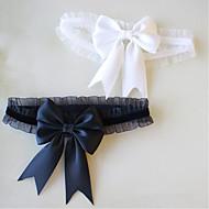 Shantung Estilo Dulce / Lazo Liga de la boda Con Pajarita Ligas / Calentador de la pierna Boda / Aniversario