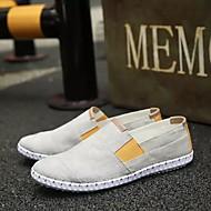 tanie Obuwie męskie-Męskie Komfortowe buty PU Wiosna / Jesień Mokasyny i buty wsuwane Beżowy / Szary / Niebieski