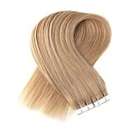 Tape In Hiukset Extensions 20kpl / pakkaus 2.2g / kpl Platinum Blonde Mansikka Blonde /Vaalea vaalea Beige Blonde // Bleach Blonde Ash