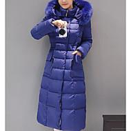 Žene Veći konfekcijski brojevi Slim Dug Jakna od perja - Jednobojni, Classic Style