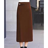 Žene Suknja Suknje - Jednobojni, Osnovni