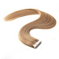 Tape In Hiukset Extensions 20kpl / pakkaus 2g / kpl Platinum Blonde Mansikka Blonde /Vaalea vaalea Beige Blonde // Bleach Blonde Ash