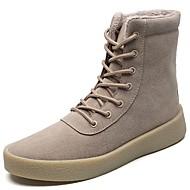 Masculino sapatos Couro Ecológico Outono Inverno Conforto Botas Botas Cano Médio Para Casual Preto Amarelo