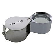 30X 30x21mm Imeskelytabletin Folding jalokivikauppias Eye luuppi suurennuslasi suurennuslasi mikroskooppi