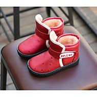 baratos Sapatos de Menina-Para Meninas Sapatos Courino Outono / Inverno Conforto / Botas de Neve Botas para Marron / Vermelho / Azul