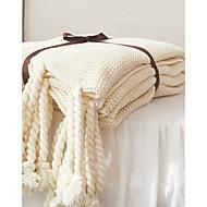 Superweich Einheitliche Farbe Reine Baumwolle Decken