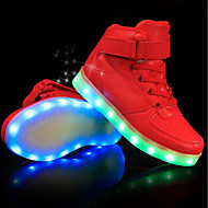 cheap -Boys' Shoes PU(Polyurethane) Spring & Summer Comfort / Light Up Shoes Sneakers LED for White / Black / Red / Party & Evening / TR