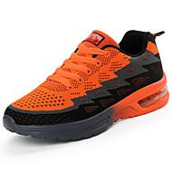 billige -Herre Sko Gummi Forår Efterår Komfort Sportssko Basketball Ankelstøvler Rosette for udendørs Orange Mørkeblå Marineblå