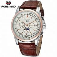 FORSINING Homens Relógio de Moda Relógio Elegante Relógio de Pulso Automático - da corda automáticamente Calendário Gravação Oca Fase da