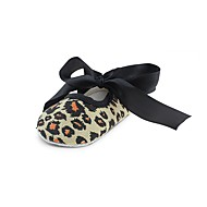 お買い得  ベビー用靴-赤ちゃん 靴 繊維 春、夏、秋、冬 幼児用靴 赤ちゃん用靴 コンフォートシューズ フラット リボン のために カジュアル ドレスシューズ ヒョウ柄