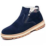 Masculino sapatos Camurça Couro Ecológico Inverno Conforto Botas Para Casual Preto Azul Khaki