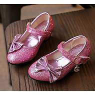 Girls' Shoes Paillette Fall Winter Flower Girl Shoes Heels For Casual Blushing Pink Silver Gold