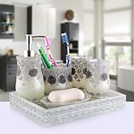 כלי לסבון גביע מברשת שיניים ארכאי שרף מחזיק למברשת שיניים עומד עצמאי
