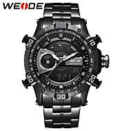 WEIDE Herre Digital Watch / Armbåndsur / Sportsur Japansk Kalender / Vandafvisende / Sej Rustfrit stål Bånd Luksus / Afslappet / Mode Sort