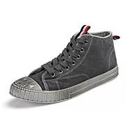 billige -Herrer Sko Kanvas Forår Efterår Komfort Sneakers Til Afslappet Sort Grå