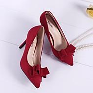 Női Cipő Pihe Minden évszakra Magasított talpú Magassarkúak Erősített lábujj Kompatibilitás Hétköznapi Fekete Piros Zöld Bor Meztelen