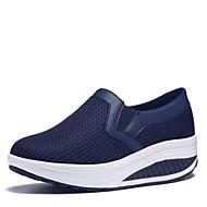お買い得  レディーススニーカー-女性用 靴 PUレザー 春 コンフォートシューズ スニーカー のために カジュアル ブラック ダークブルー グレー フクシャ