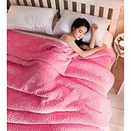 Superweich,Einfarbig Einheitliche Farbe Polyester Decken