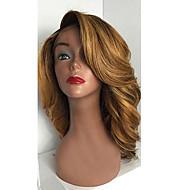 Χαμηλού Κόστους -Φυσικά μαλλιά Δαντέλα Μπροστά Χωρίς Κόλλα Δαντέλα Μπροστά Περούκα Ελεύθερο μέρος Με αφέλειες στυλ Βραζιλιάνικη Κυματιστό Κυματομορφή Σώματος Περούκα 130% Πυκνότητα μαλλιών / Μαλλιά με ανταύγειες