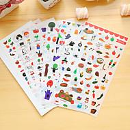 billige Kontor Nødvendigheter-6 stk / sett mat dagbok klistremerke klistremerke klistremerke klistremerke