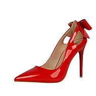 billige -Dame-Kunstlær-Stiletthæl-Komfort-Høye hæler-Formell-Svart / Rosa / Rød / Hvit / Grå / Sennep