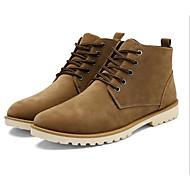 Masculino sapatos Camurça Outono Inverno Conforto Coturnos Botas Para Casual Preto Amarelo Vinho